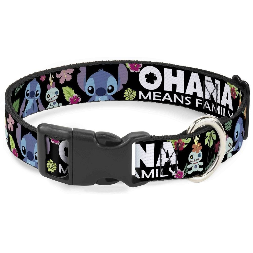 Buckle Down Buckle-Down Disney Lilo & Stitch Ohana Means Family Plastic Clip Collar
