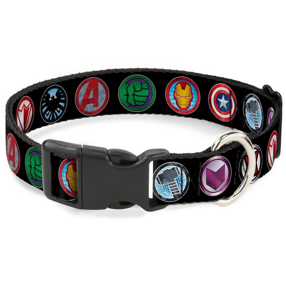 Buckle Down Buckle-Down Avenger Icons Plastic Clip Collar