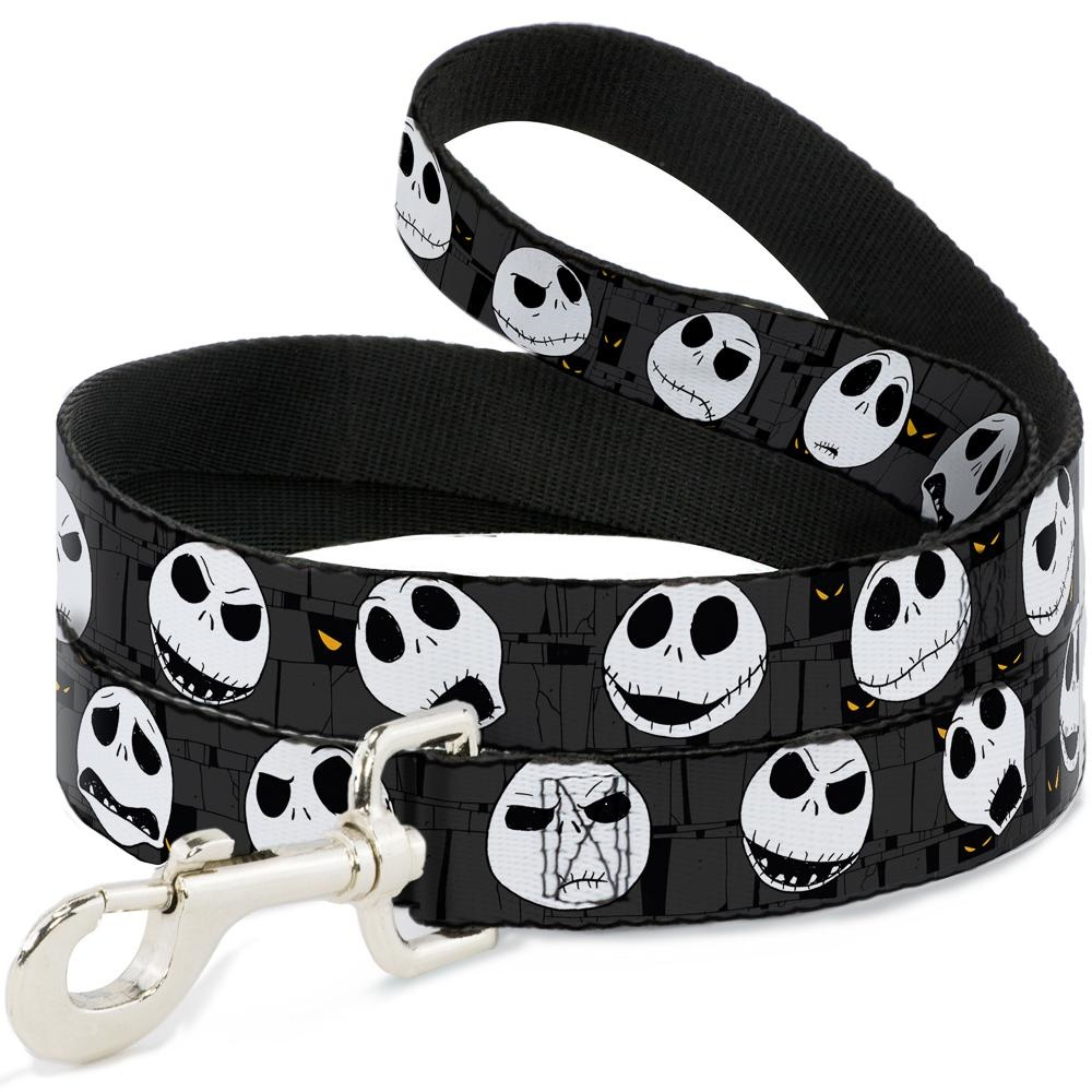 Buckle Down Buckle-Down Disney Nightmare Before Christmas Jack Expressions Leash 4 Ft
