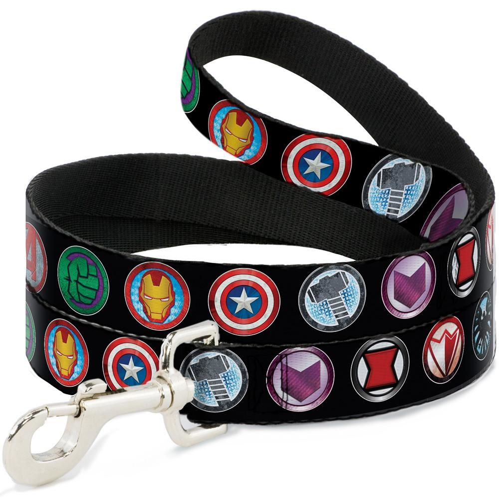 Buckle Down Buckle-Down Avenger Icons Leash 4 Ft