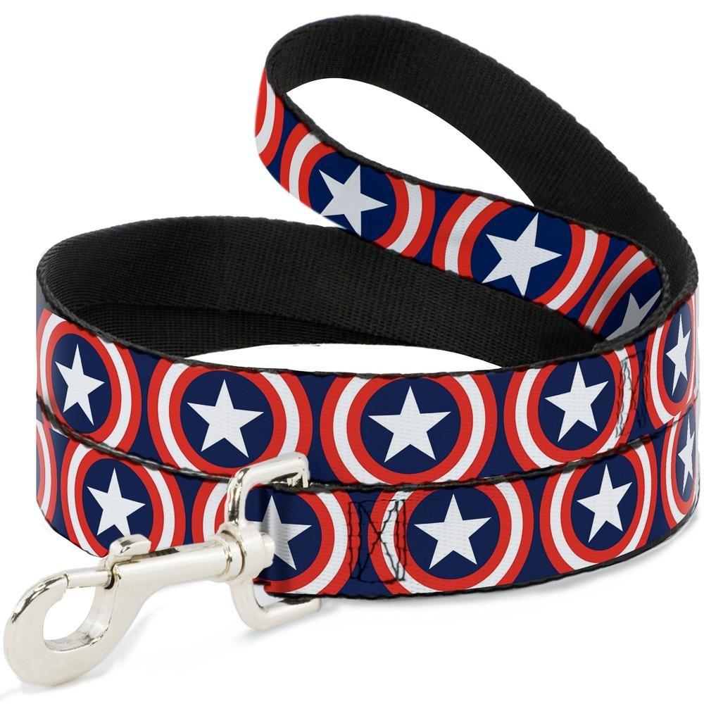 Buckle Down Buckle-Down Captain America Shield Leash 4 Ft