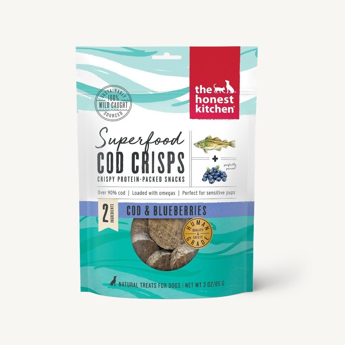 The Honest Kitchen Honest Kitchen Superfood Cod Crisps - Cod & Blueberries