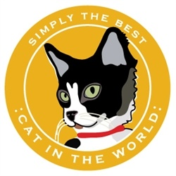 Paper Russells Simply The Best Cat In The World Car Magnet