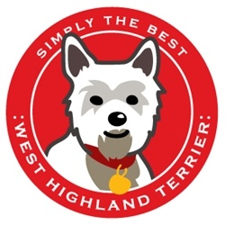 Paper Russells Simply The Best West Highland Terrier Car Magnet