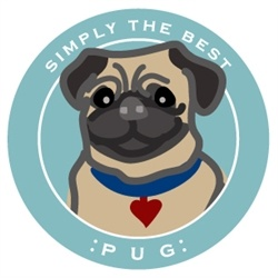 Paper Russells Simply The Best Tan Pug Car Magnet