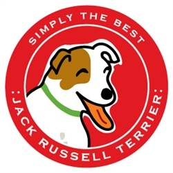 Paper Russells Simply The Best Jack Russel Terrier Car Magnet