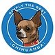 Paper Russells Simply The Best Brown Chihuahua Car Magnet