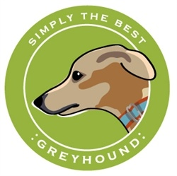 Paper Russells Simply The Best Greyhound Car Magnet