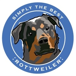 Paper Russells Simply The Best Rottweiler Car Magnet