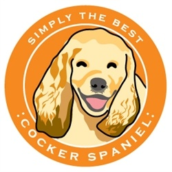 Paper Russells Simply The Best Cocker Spaniel Car Magnet