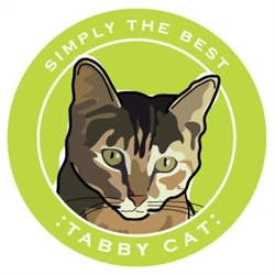 Paper Russells Simply The Best Tabby Cat Car Magnet