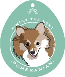 Paper Russells Simply The Best Pomeranian Decal