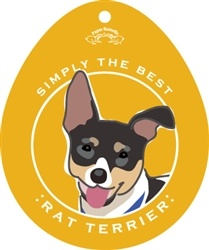 Paper Russells Simply The Best Rat Terrier Decal