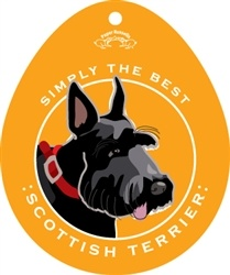 Paper Russells Simply The Best Scottish Terrier Decal