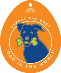Paper Russells Simply The Best Dog In The World Decal