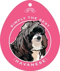 Paper Russells Simply The Best Havanese Decal