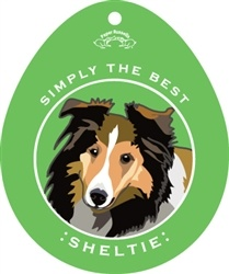 Paper Russells Simply The Best Sheltie Decal