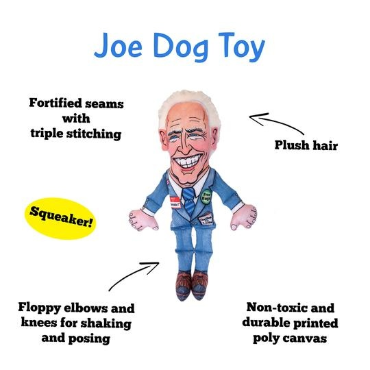 "Fuzzu Fuzzu Joe Biden Dog Toy - Small 12"" with Squeaker"