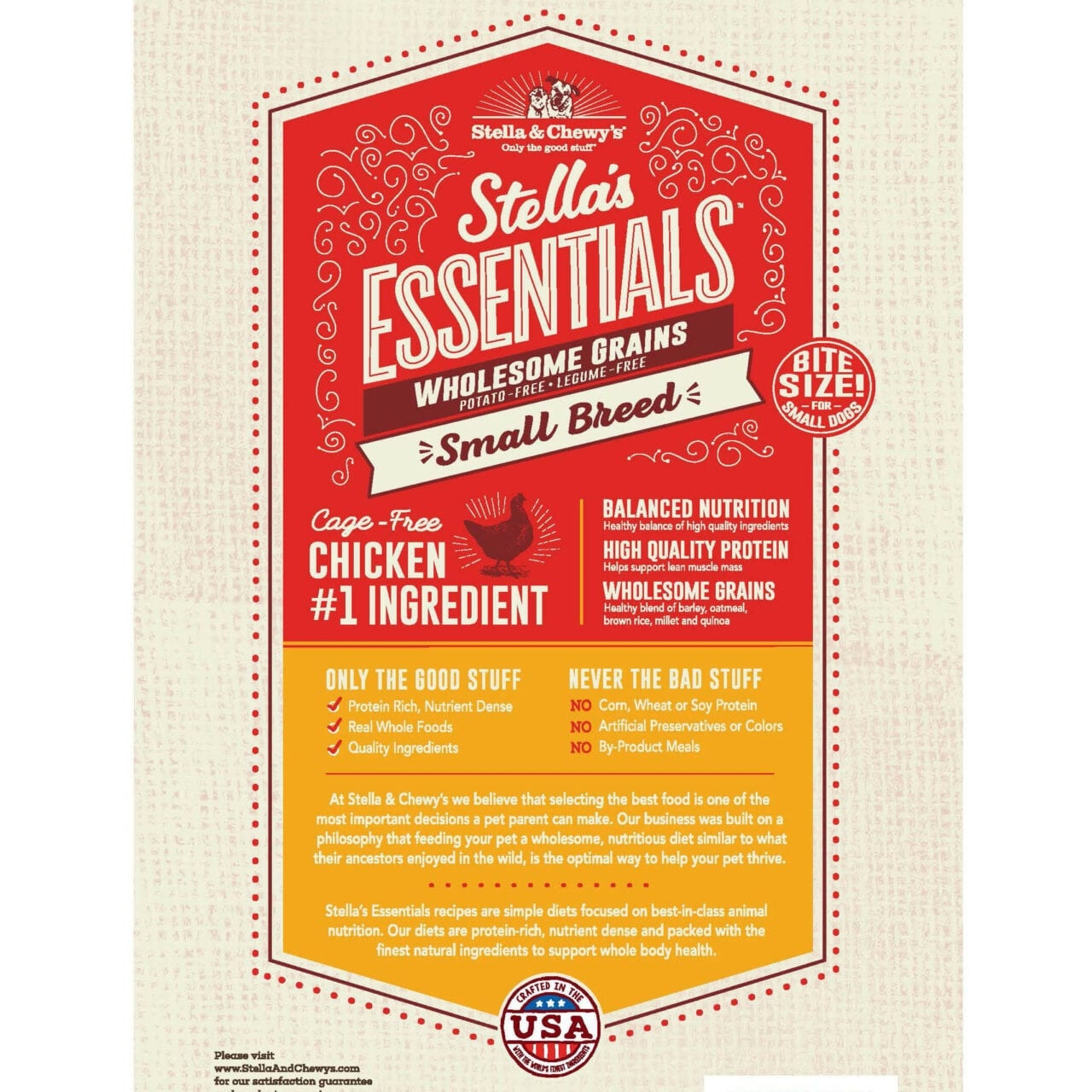 Stella & Chewys Stella & Chewys Stella's Essentials Cage-Free Chicken & Ancient Grains Recipe For Small Breed