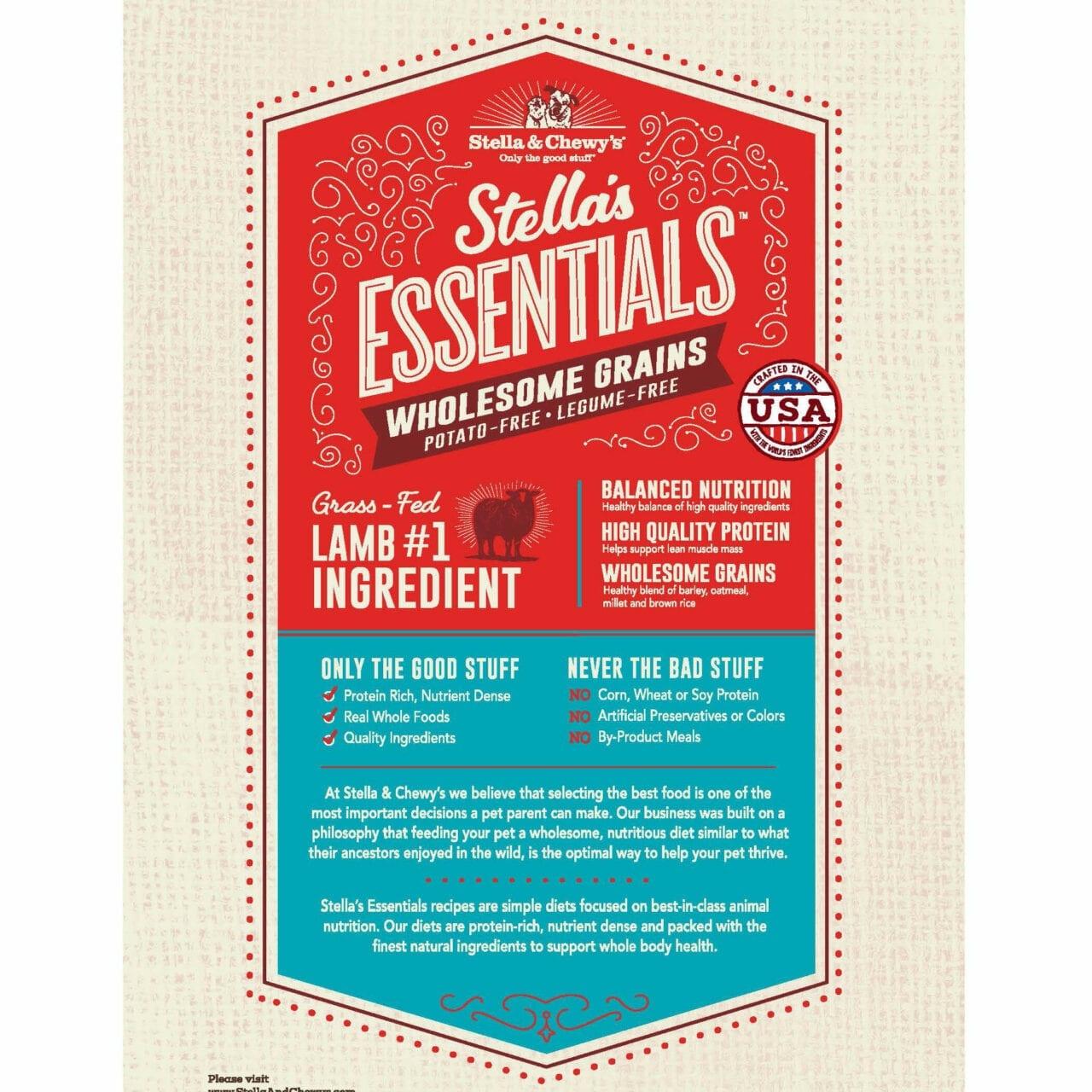 Stella & Chewys Stella & Chewys Stella's Essentials Grass-Fed Lamb & Ancient Grains Recipe