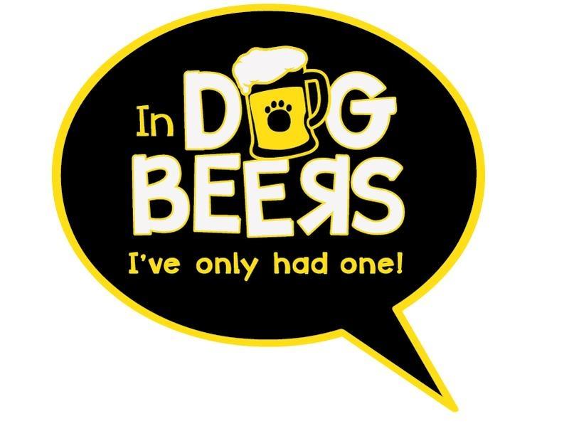 Dog Speak Dog Speak Decal - In Dog Beers I've Only Had One!