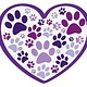 Dog Speak Dog Speak Decal - Heart With Paws