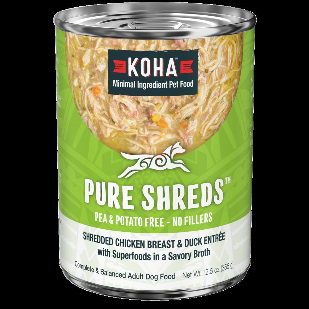 Koha Koha Pure Shreds, Shredded Chicken Breast & Duck Entree