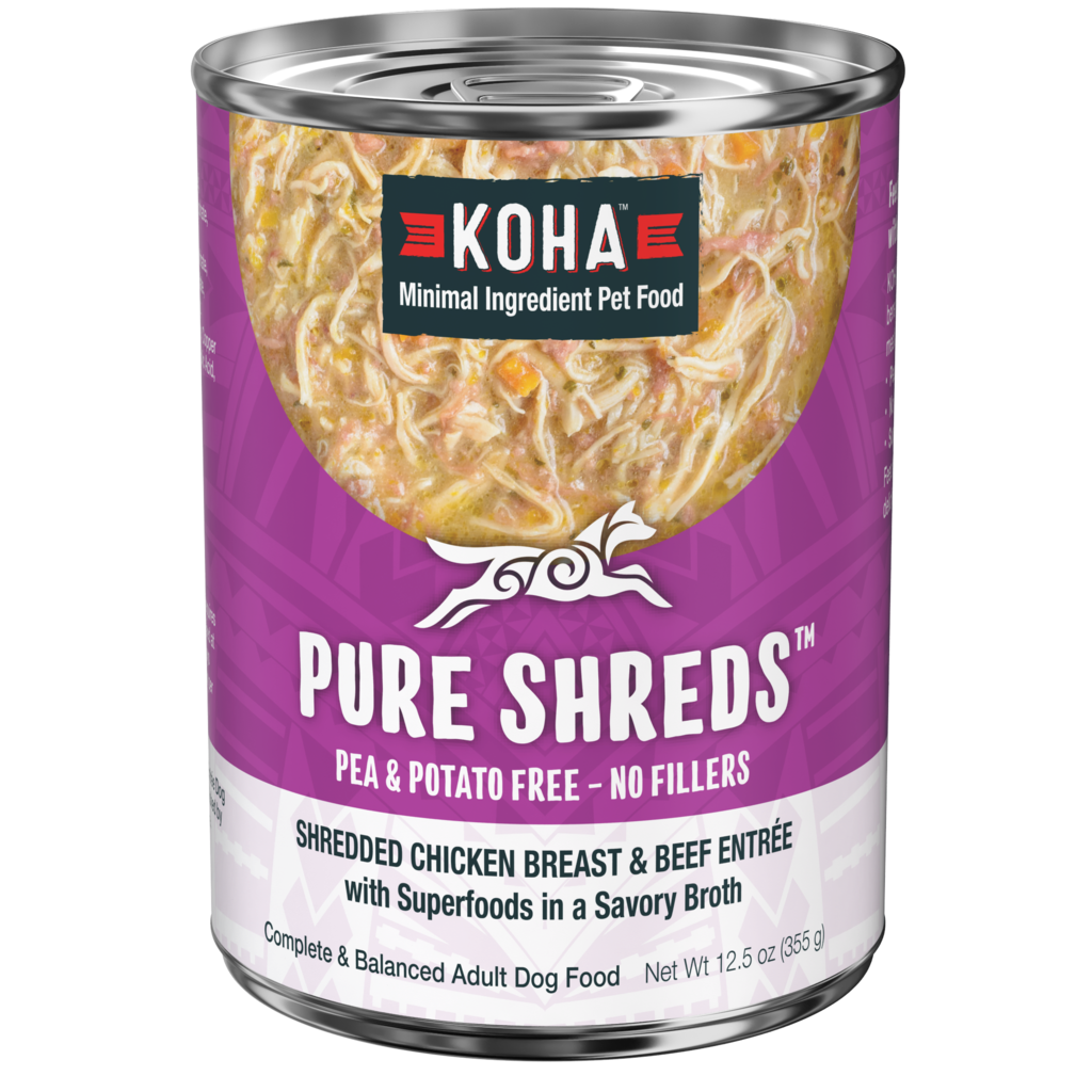 Koha Koha Pure Shreds, Shredded Chicken Breast & Beef Entree