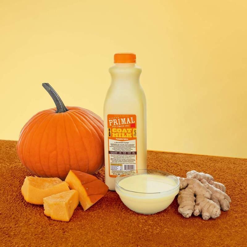 Primal Pet Foods Primal Raw Goat Milk Pumpkin Spice 32oz/Quart