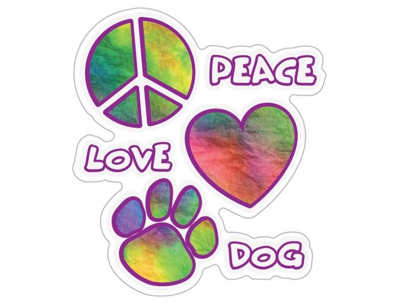 Dog Speak Dog Speak Decal - Peace Love Dog