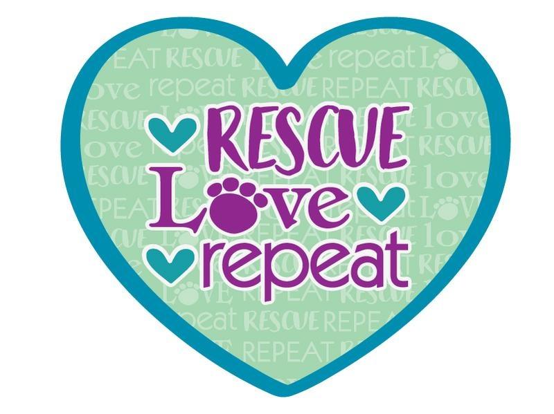 Dog Speak Dog Speak Decal - Rescue Love Repeat
