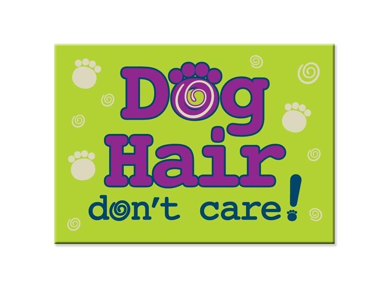 Dog Speak Dog Speak Standard Magnet - Dog Hair, Don't Care