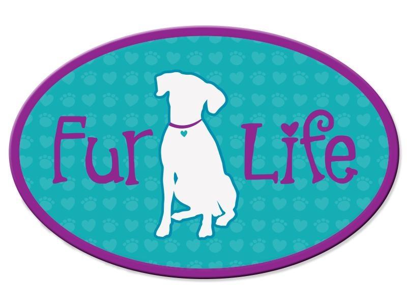Dog Speak Dog Speak Oval Car Magnet - Fur Life (Dog)