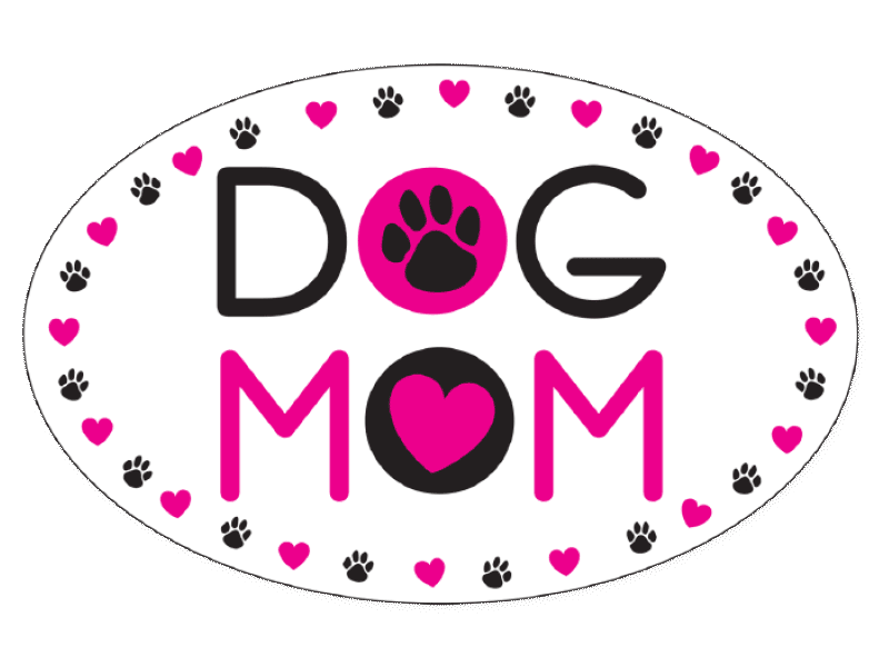 Dog Speak Dog Speak Oval Car Magnet - Dog Mom