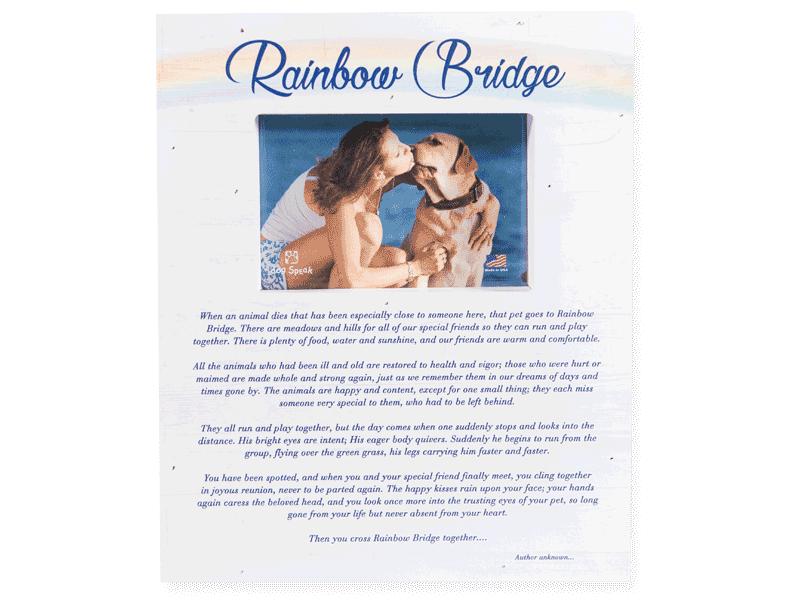 Dog Speak Dog Speak Pallet Box Wood Frame - Rainbow Bridge