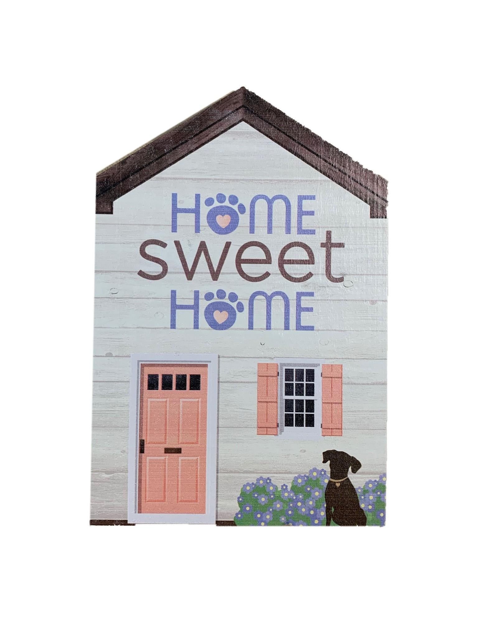 Dog Speak Dog Speak Large Rustic Wood House - Home Sweet Home