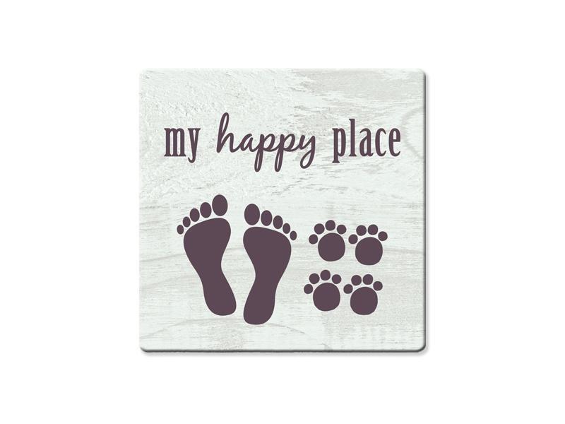 Dog Speak Dog Speak Absorbent Stone Coaster - My Happy Place