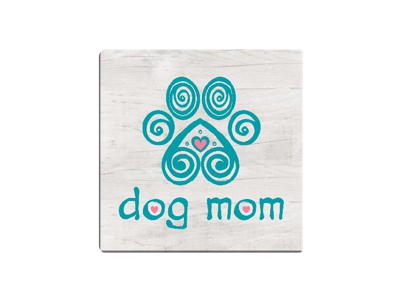 Dog Speak Dog Speak Absorbent Stone Coaster Dog Mom