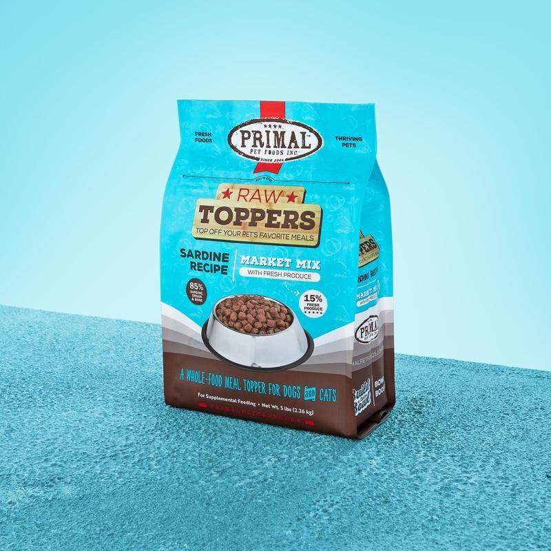 Primal Pet Foods Primal Raw Frozen Sardine Market Mix Topper 5lb