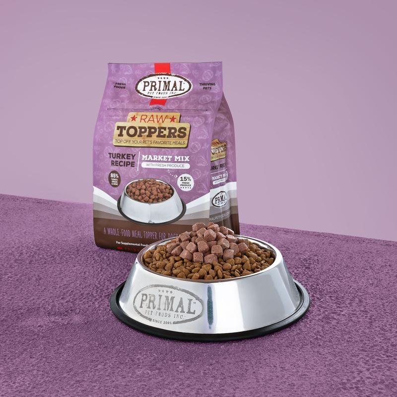 Primal Pet Foods Primal Raw Frozen Turkey Market Mix Topper 5lb