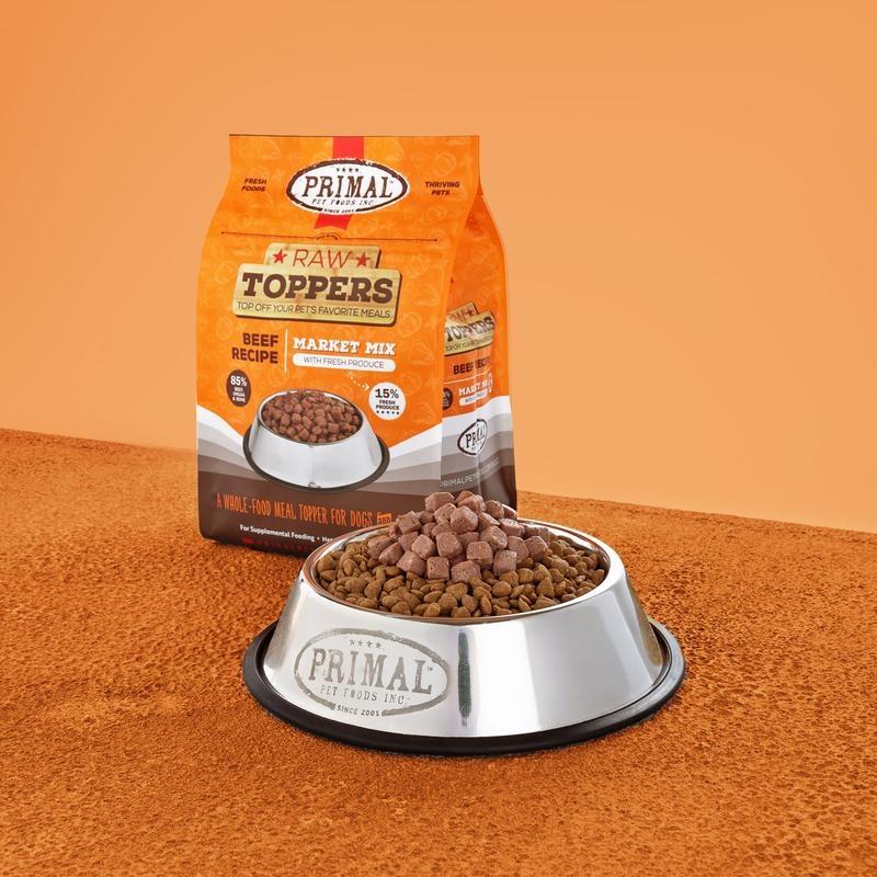 Primal Pet Foods Primal Raw Frozen Beef Market Mix Topper 5lb