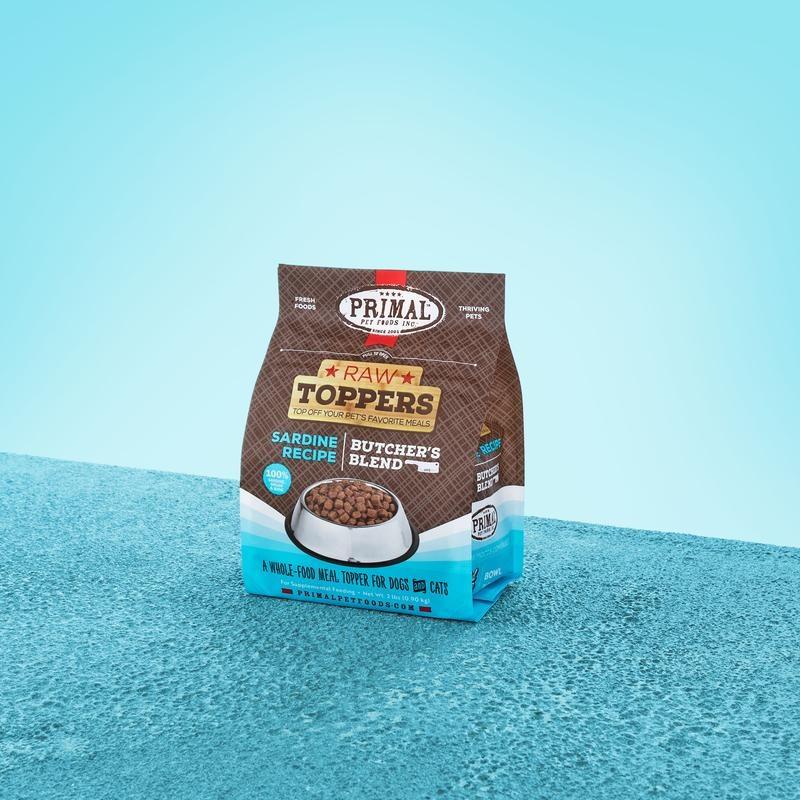 Primal Pet Foods Primal Raw Frozen Sardine Butcher's Blend Topper 2lb