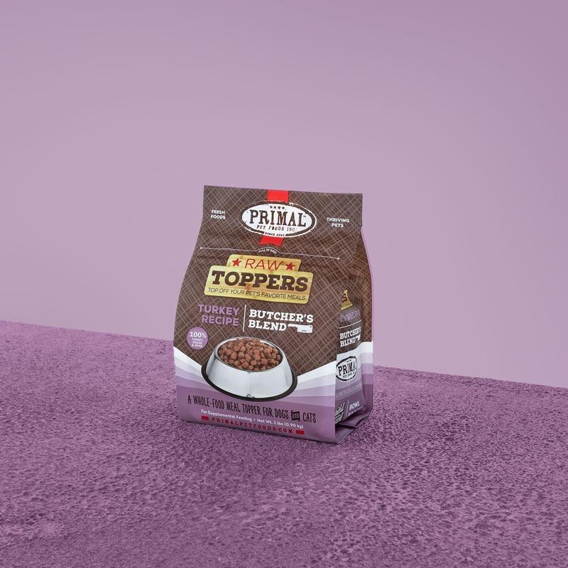 Primal Pet Foods Primal Raw Frozen Turkey Butcher's Blend Topper 2lb