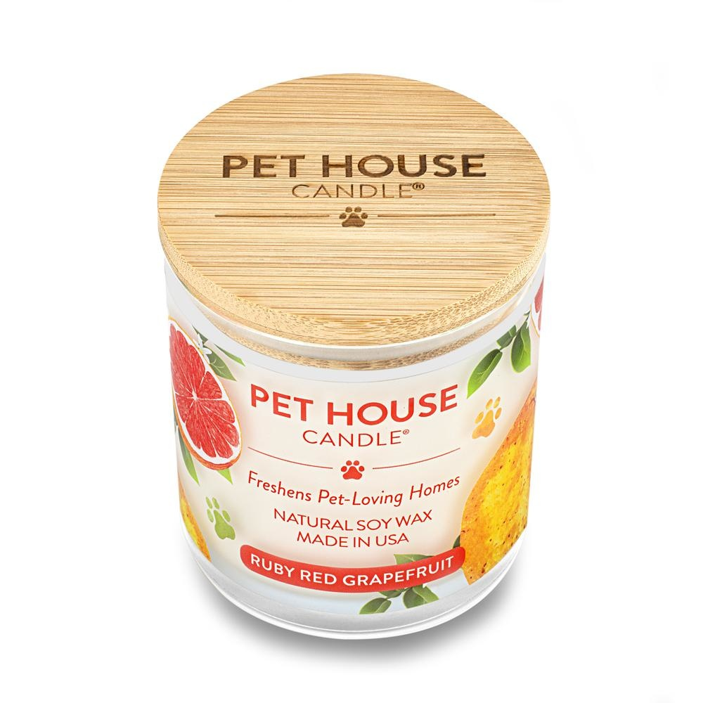 One Fur All Pet House Candle Ruby Red Grapefruit 9oz