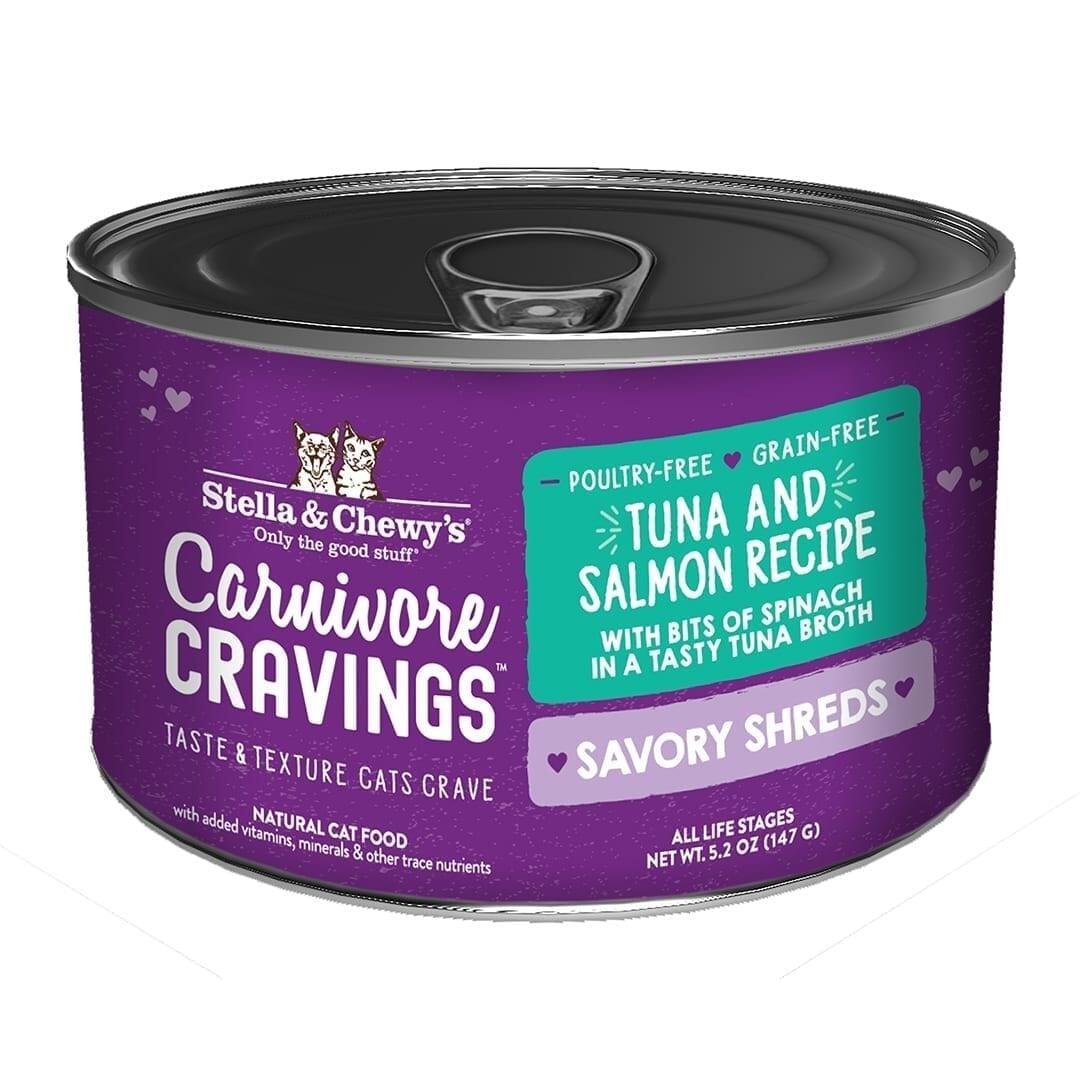 Stella & Chewys Stella & Chewys Carnivore Cravings Savory Shreds Tuna & Salmon Recipe