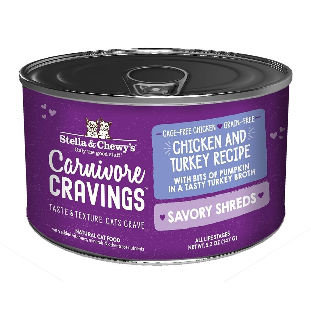 Stella & Chewys Stella & Chewys Carnivore Cravings Savory Shreds Chicken & Turkey Recipe