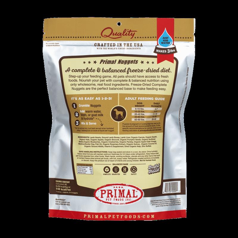 Primal Pet Foods Primal Raw Freeze-Dried Canine Lamb Formula