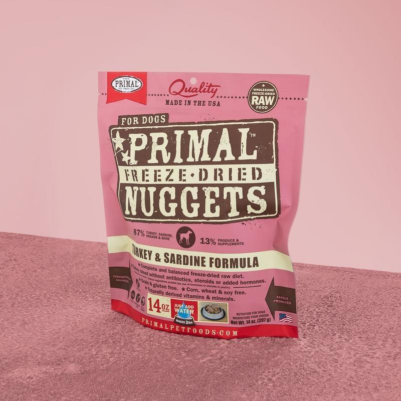 Primal Pet Foods Primal Raw Freeze-Dried Canine Turkey & Sardine Formula