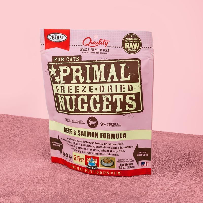 Primal Pet Foods Primal Raw Freeze-Dried Feline Beef & Salmon Formula