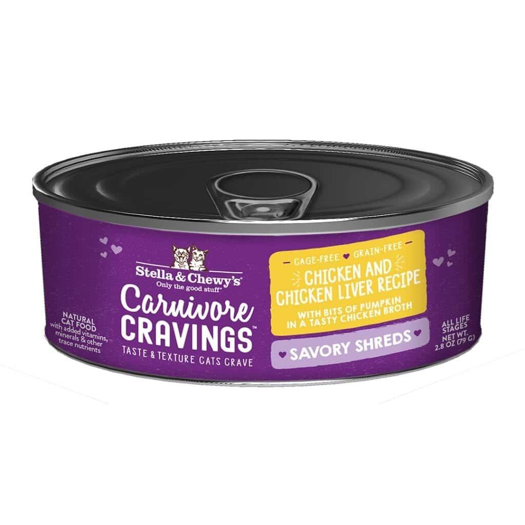 Stella & Chewys Stella & Chewys Carnivore Cravings Savory Shreds Chicken & Chicken Liver Recipe
